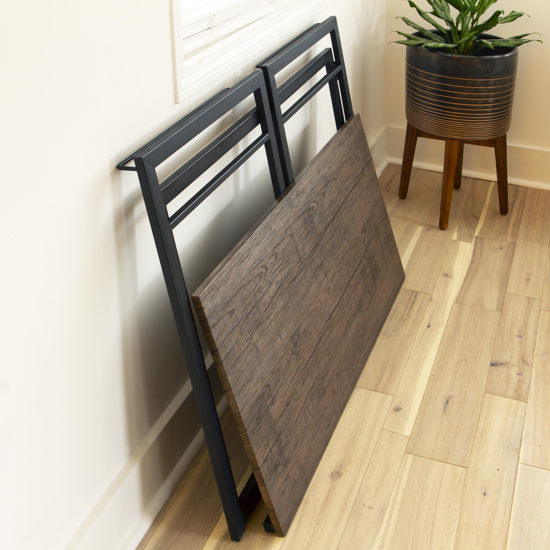 "Flash Furniture 40"" Rustic Home Office Folding Computer Desk"