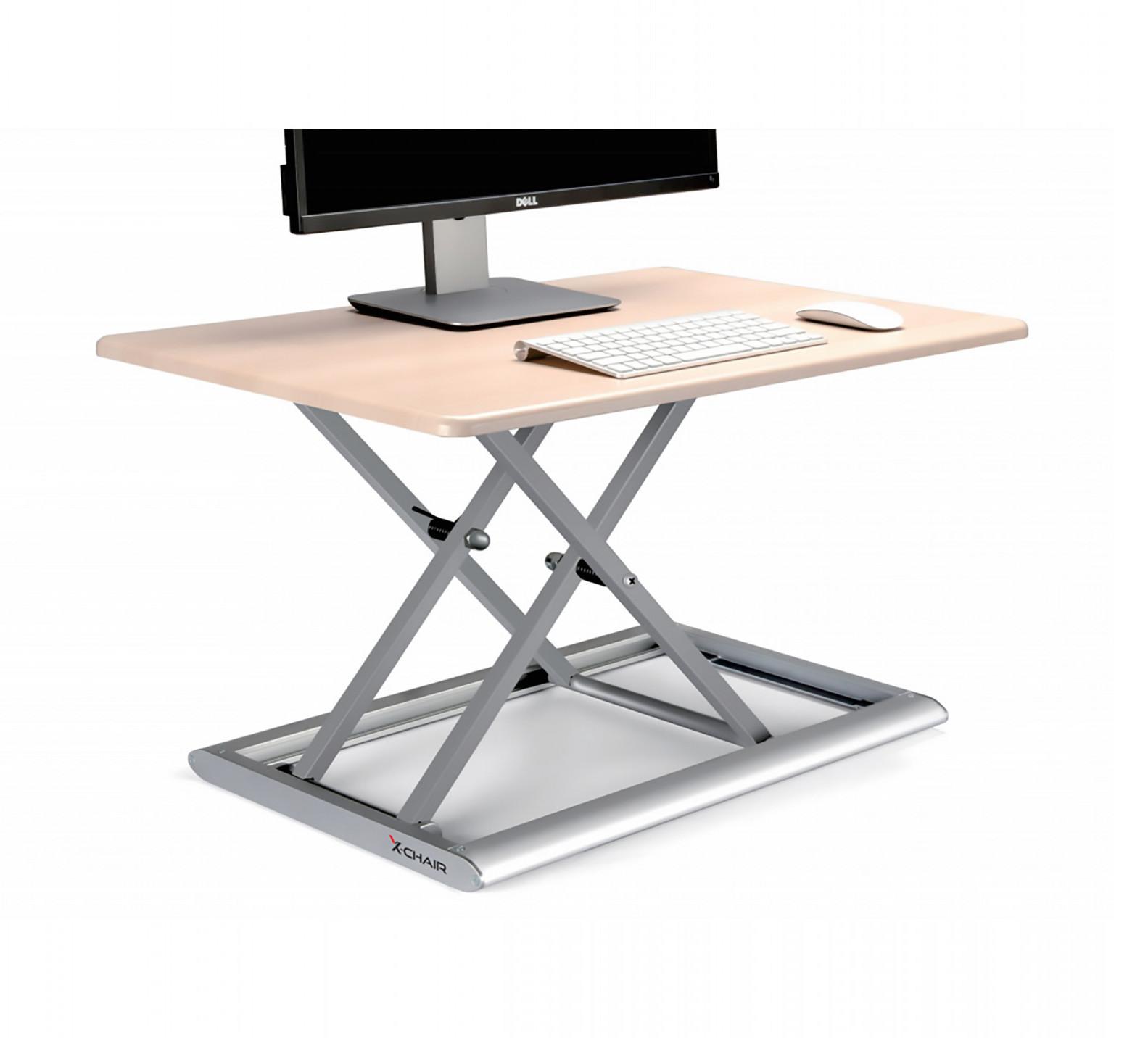 x-flextop portable sit to stand desk in birch