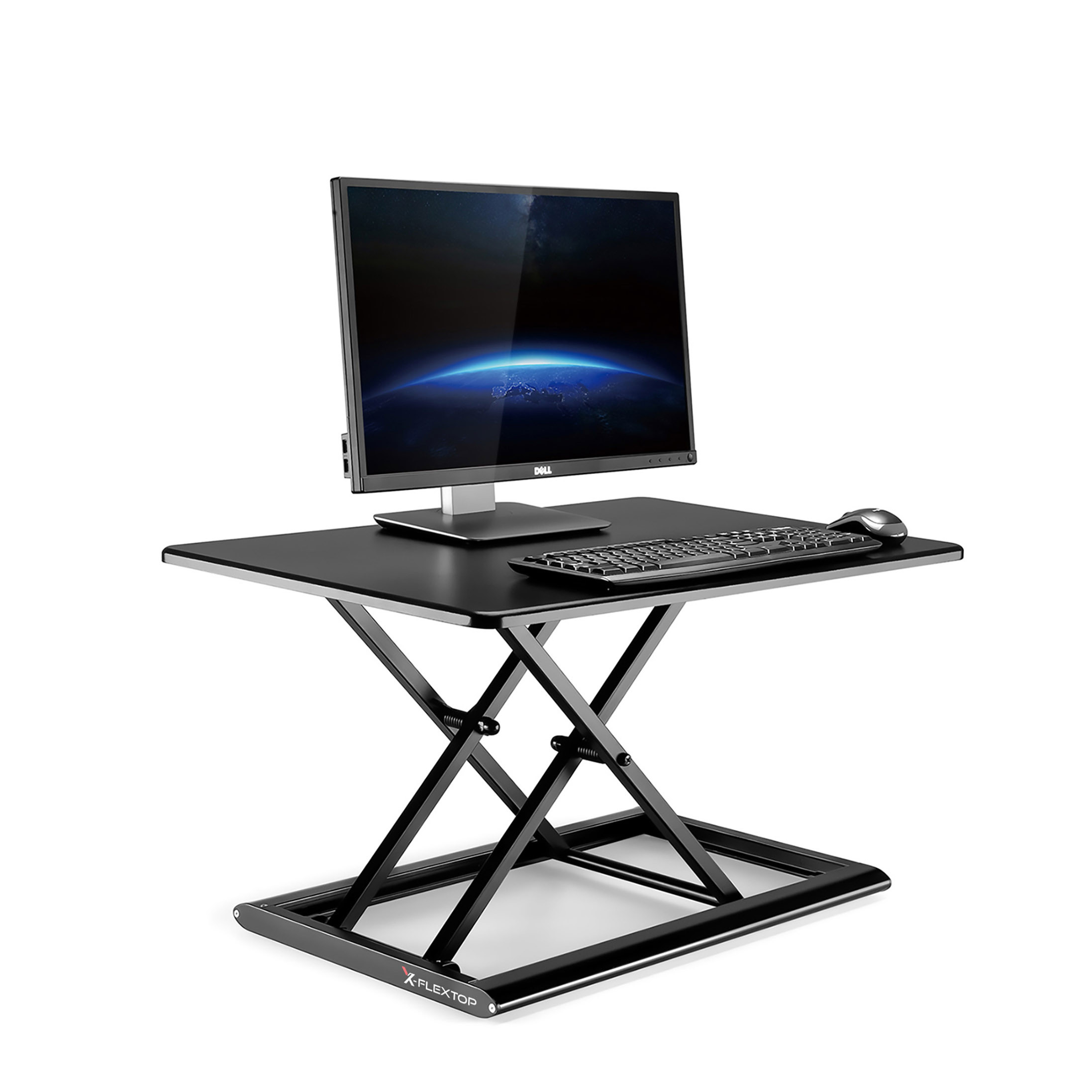 x-flextop portable sit to stand desk in black
