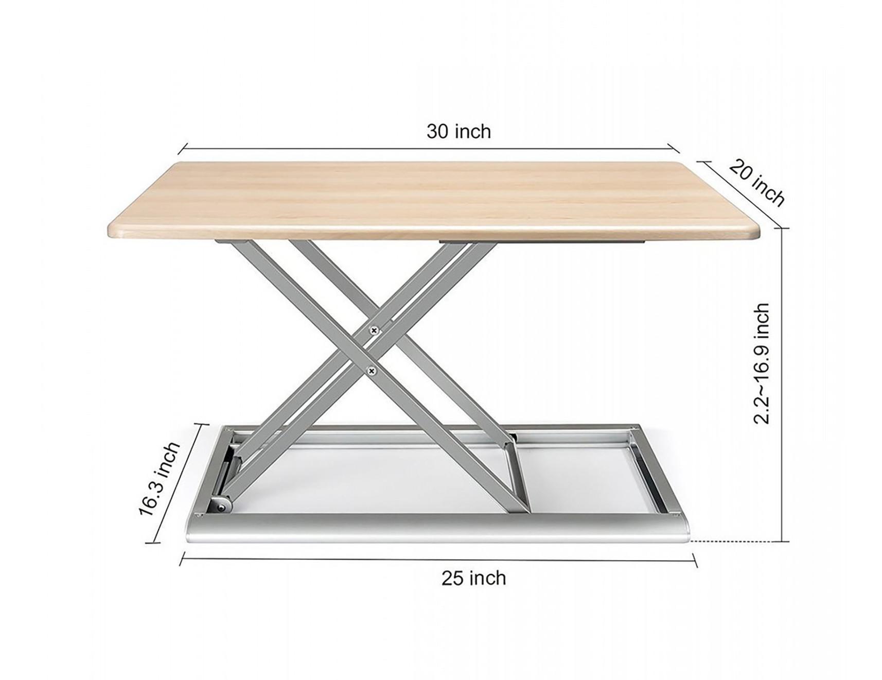 x-flextop portable sit to stand desk dimensions