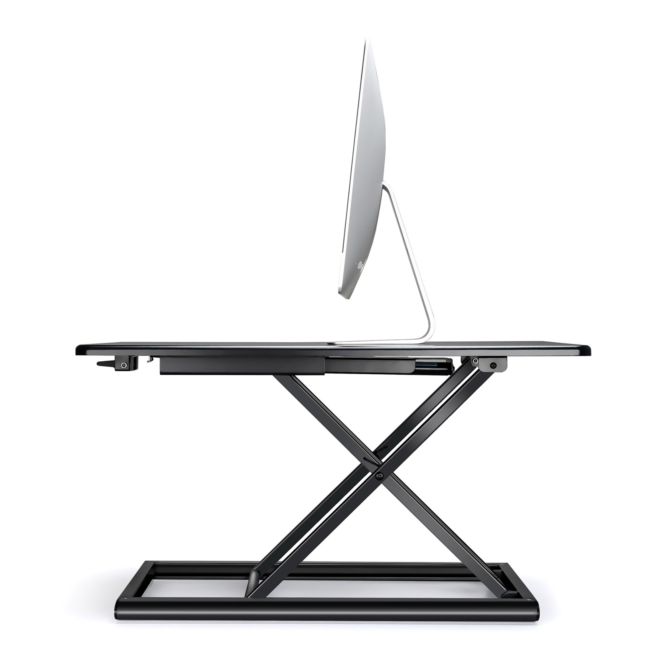 x-flextop portable sit to stand desk side view