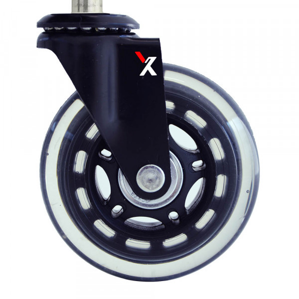 clear non locking x-chair blade casters