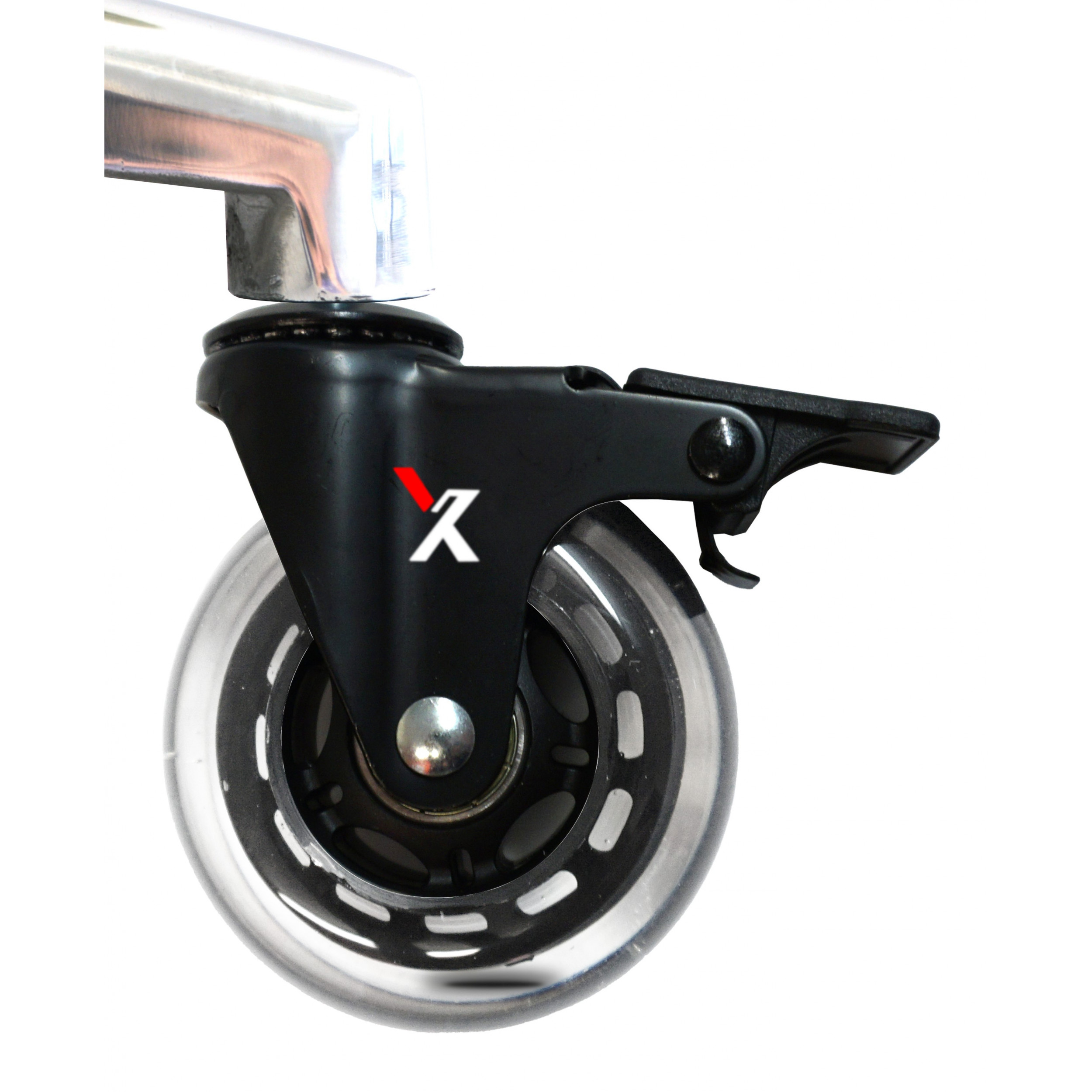 clear locking x-chair blade casters