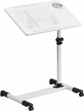 Flash Furniture Adjustable White Laptop Desk NAN-JG-06B-WH-GG