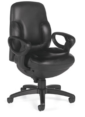 Global Concorde Series Mid Back Leather Executive Chair 2425