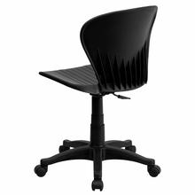 Flash Furniture Armless Black Plastic Swivel Task Chair