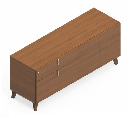 """Global Corby 64"""" Mid Century Executive Wall Cabinet CBYC10LLB"""