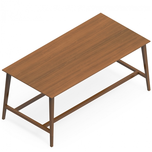 Global Corby Freestanding Wood Veneer Collaboration Table
