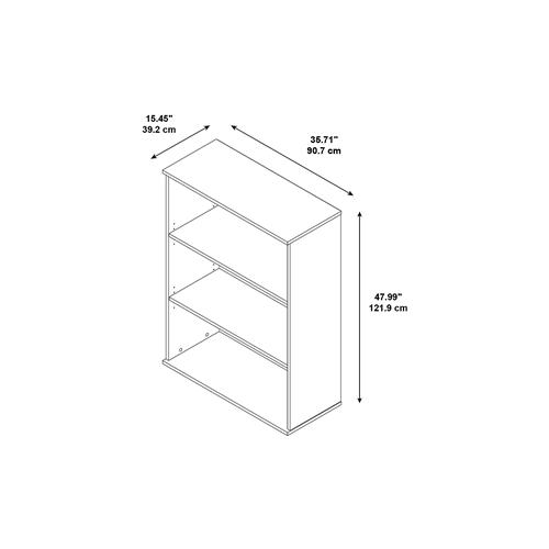 "Bush Easy Office 48""W 3 Shelf Bookcase EO104MR"