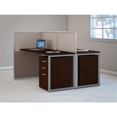 Bush Easy Office Two Person Open Side Cubicle with Pedestals EOD460SMR