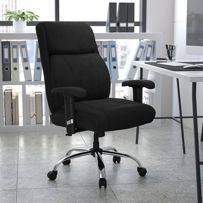 Flash Furniture Big and Tall Black Fabric Task Chair (400 lb. Capacity)