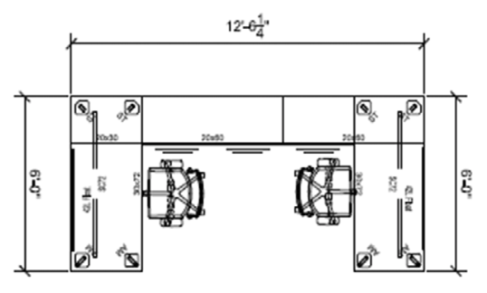 dextr 2 user workstation dimensions drawing