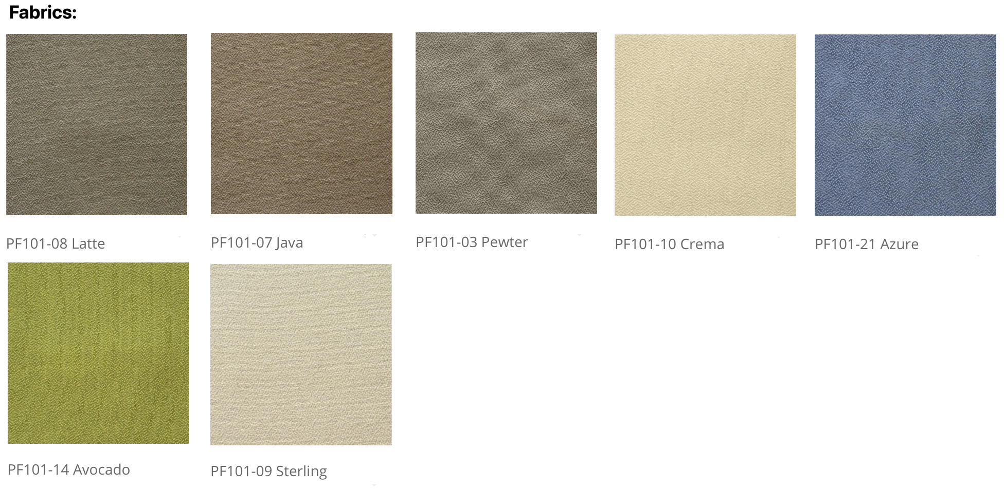 friant fabric swatches