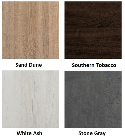 mirella table laminate finish swatches