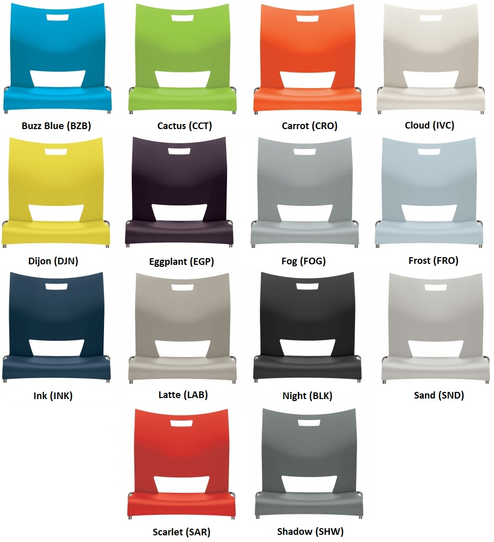 Global Duet Seating Color Options Grid