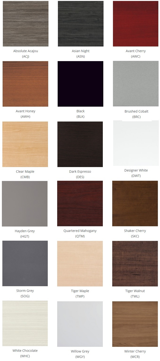 princeton laminate finish options