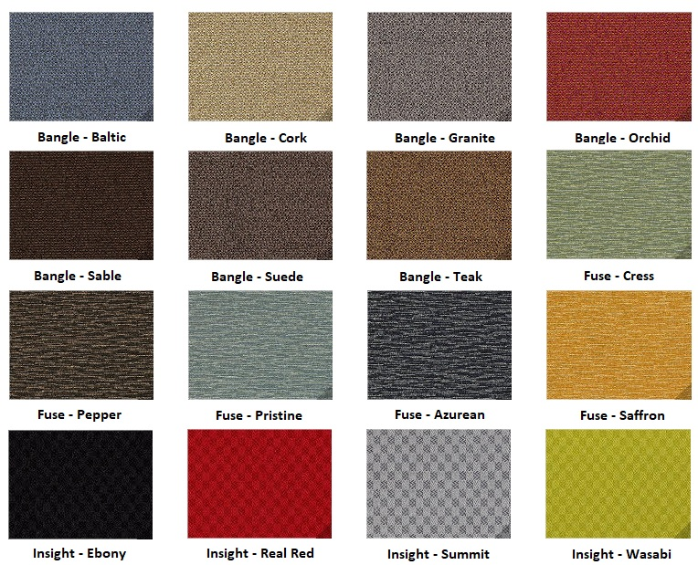 safco resi upholstery options grid