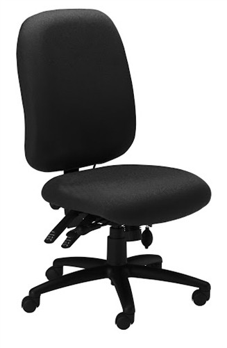 Excellent Mayline Comfort Series Big Tall 24 Hour Armless Office Chair 2424Ag Inzonedesignstudio Interior Chair Design Inzonedesignstudiocom