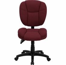 Strange Flash Furniture Armless Burgundy Fabric Ergonomic Office Chair Machost Co Dining Chair Design Ideas Machostcouk