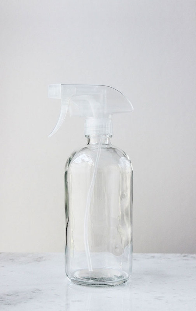 Glass Spray Bottle w/ Clear Spray Nozzle