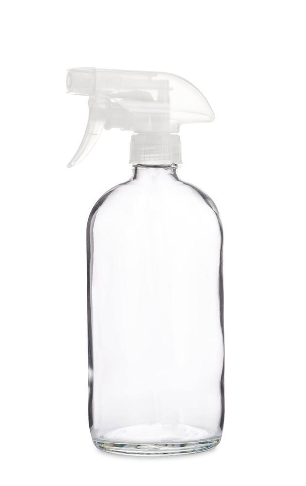 Glass Spray Bottle w/ Clear Spray Nozzle