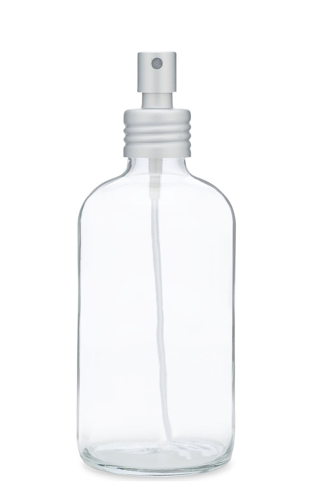Apothecary Glass Mist Spray Bottle with Aluminum Sprayer