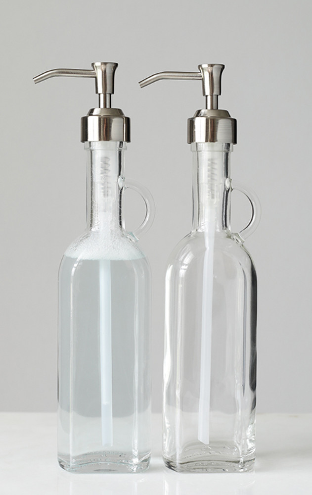 French Cottage Glass Soap Dispenser