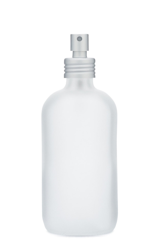 Apothecary Frosted Glass Mist Bottle with Metal Aluminum Mist Nozzle