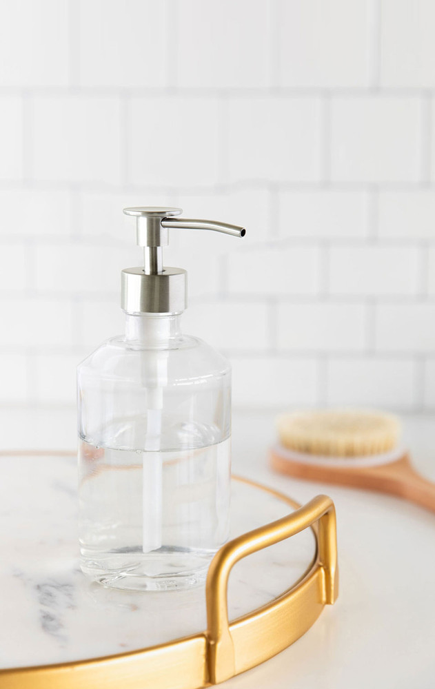 Marina Glass Soap Dispenser