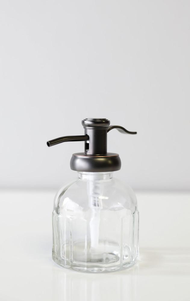 Bronze Inkwell Glass Soap Dispenser