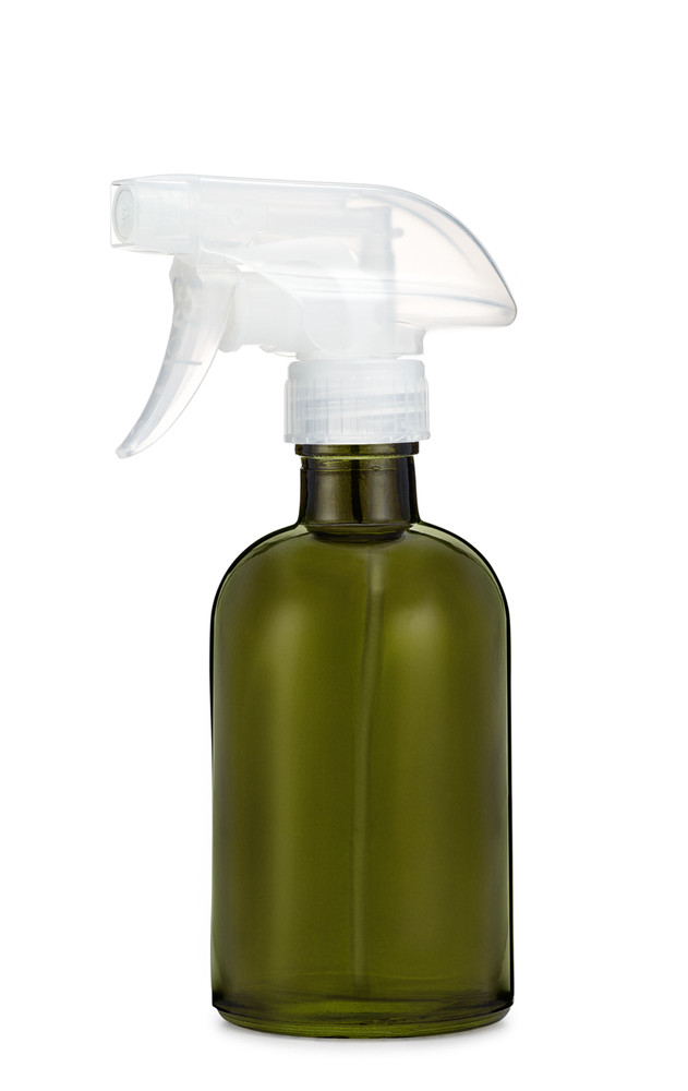 Forest Green Glass Spray Bottle w/ Clear Spray Nozzle