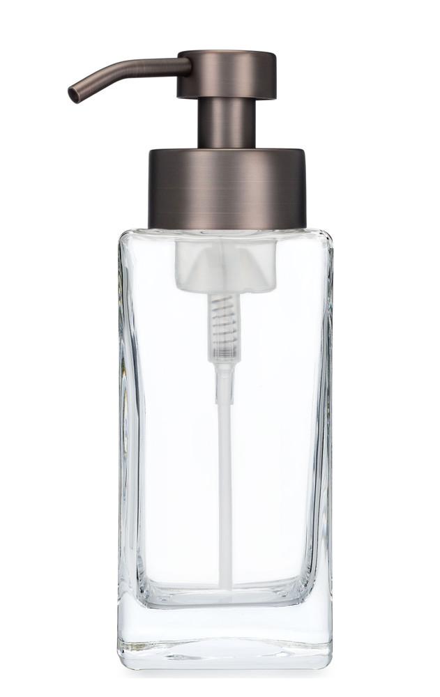 Modern Square Glass Foaming Soap Dispenser - Bronze
