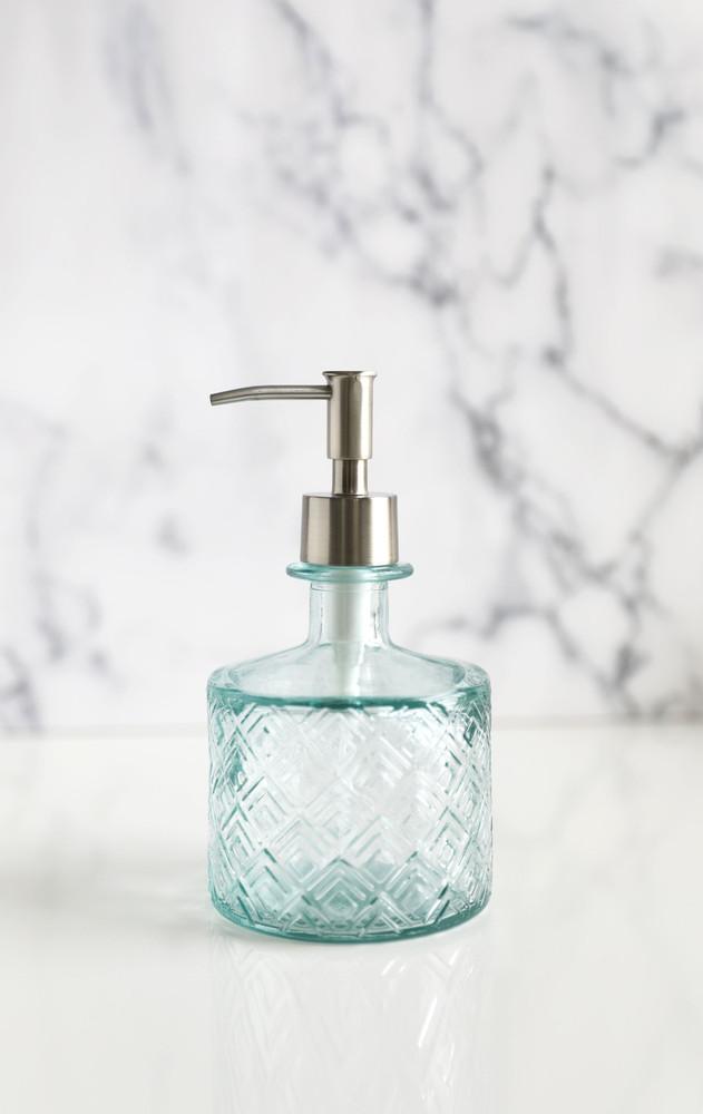 Boho Recycled Glass Soap Dispenser