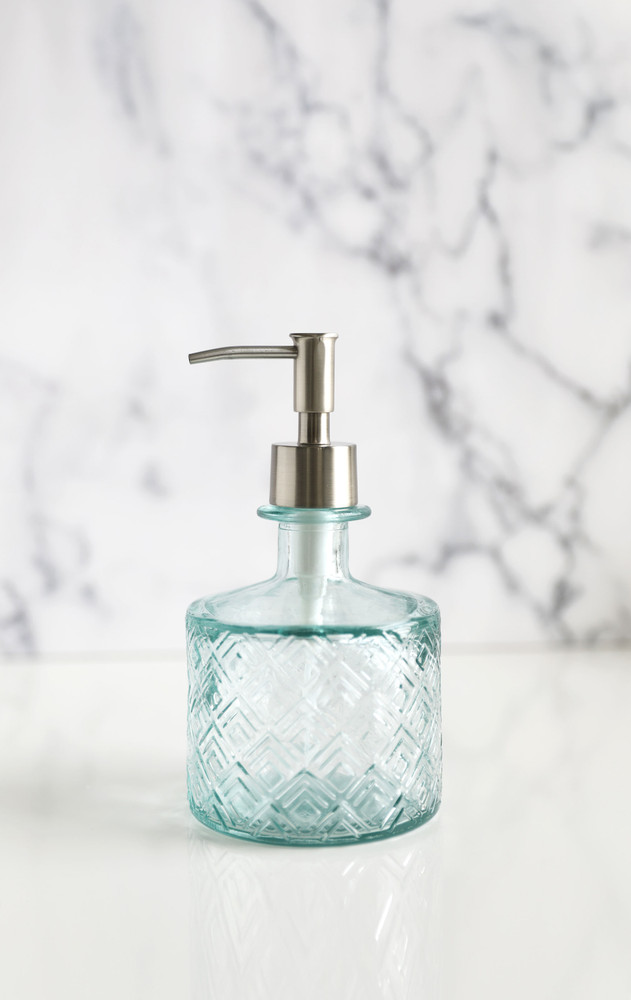 Boho Recycled Glass Soap Dispenser