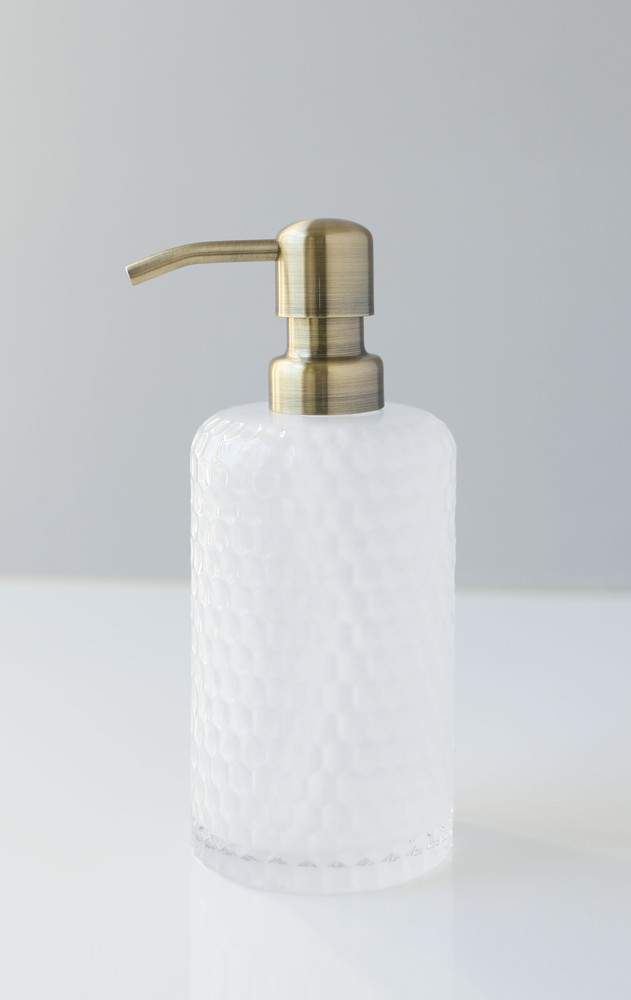 Milk + Honey Glass Soap Dispenser