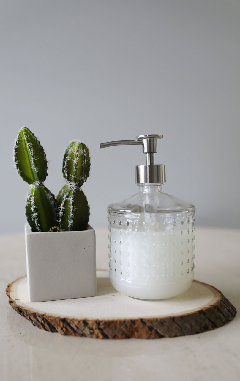 Glass Soap Dispensers Hobnail Glass Lotion Soap Dispenser With Metal Soap Pump Rail19