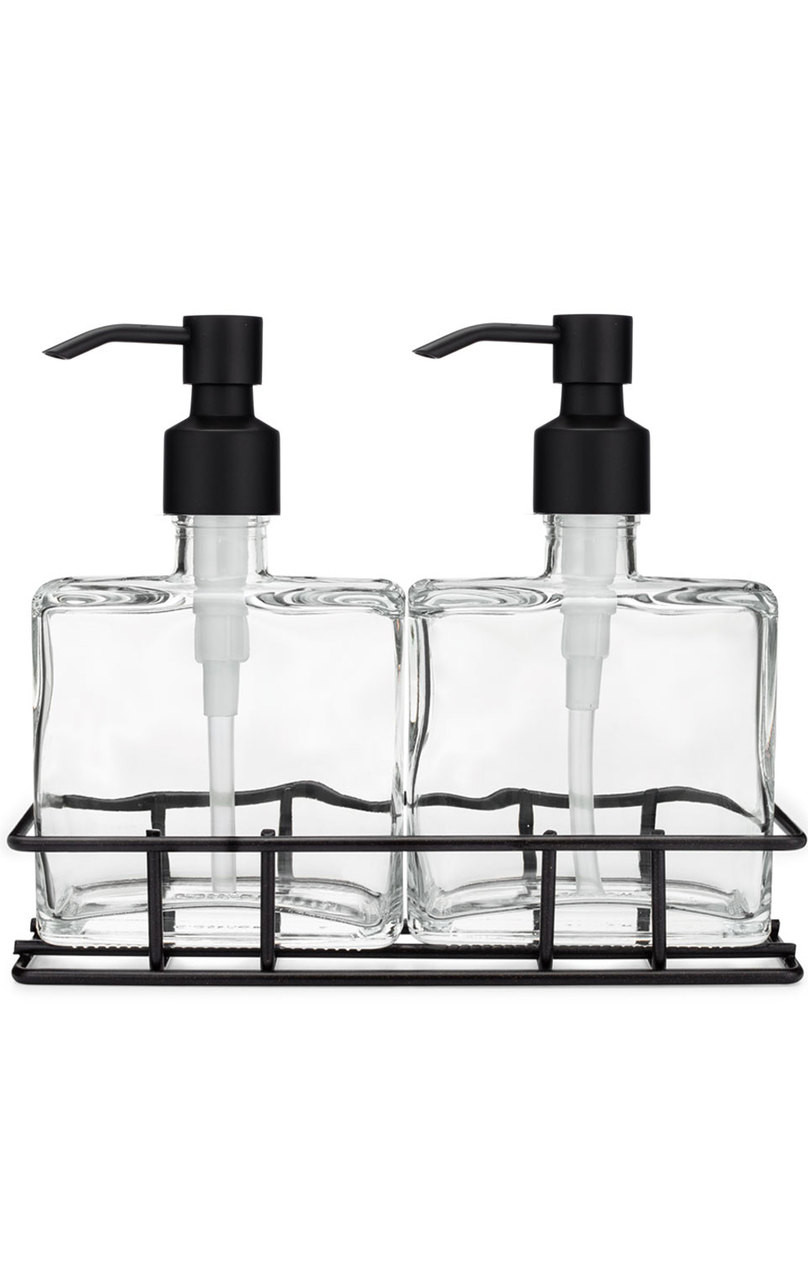 Soap Dispenser Sets Perfect Pair Glass Clear Soap Dispenser Set