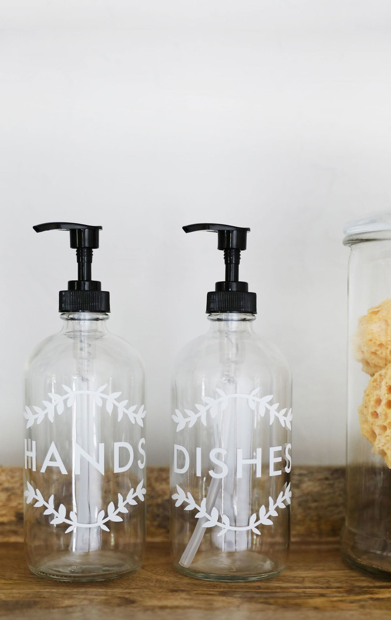 Clear Laurel Hands + Dishes Kitchen Dispenser Set