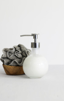Moon Round Recycled Glass Soap Dispenser