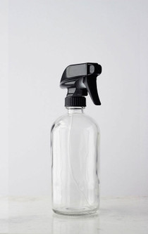 Glass Spray Bottle w/ Black Spray Nozzle