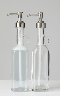 French Cottage Glass Soap Dispenser