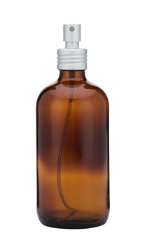 Apothecary Amber Glass Mist Bottle with Metal Aluminum Mist Nozzle