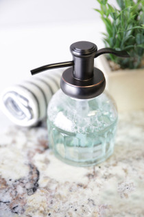 Bronze Inkwell Glass Soap Dispenser