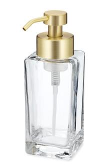Modern Square Glass Foaming Soap Dispenser - Gold