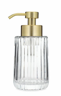 Flora Fluted Glass Foaming Soap Dispenser - Gold