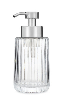 Flora Fluted Glass Foaming Soap Dispenser - Chrome