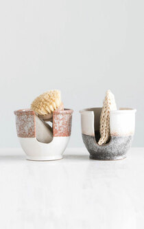 Slotted Stoneware Sponge Holder