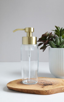 Large Glass Foam Soap Dispenser with Gold Pump