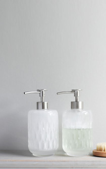 Astraea Frosty Glass Soap Dispenser