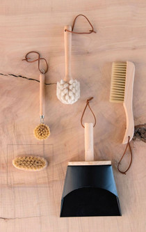 Natural Wood Bristle Vegetable Brush